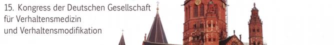 15. Kongress der Deutschen Gesellschaft für Verhaltensmedizin